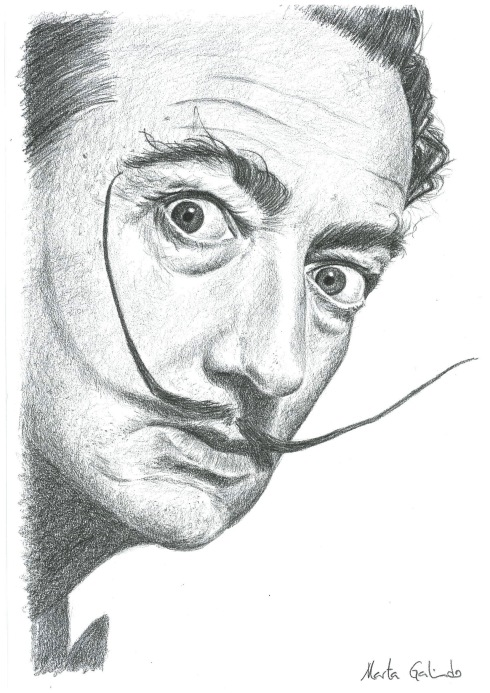 Portrait of Salvador Dalí
