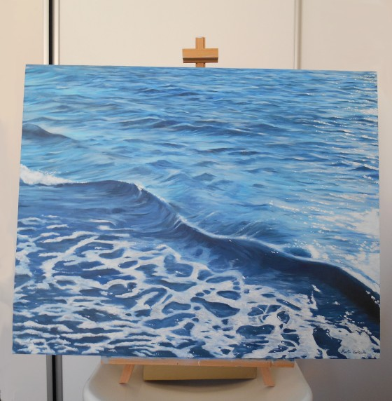Waves at Busselton, Australia (On easel)